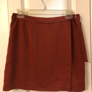 Burnt Orange Mini Skirt